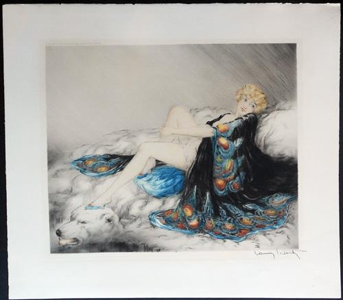 Louis Icart Silk Robe
