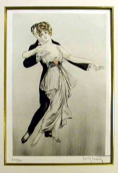 Louis Icart Tango Dancers I
