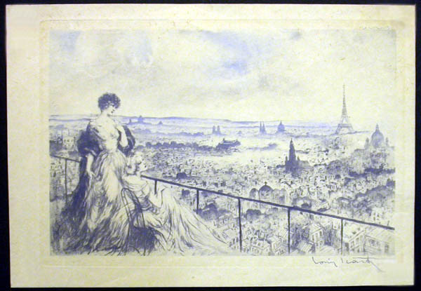 Louis Icart View of Paris