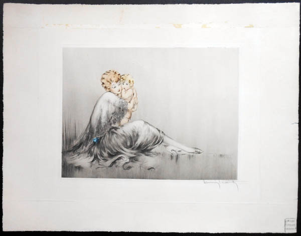 Louis Icart Young Mother