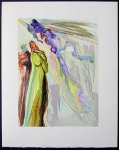 Salvador Dali - Divine Comedy - The Two Circles of Spirits