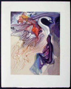 Salvador Dali - Divine Comedy - In the Heaven of Jupiter