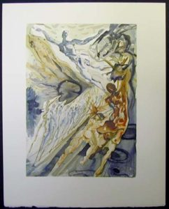 Salvador Dali - Divine Comedy - The Two Crowds of the Lustful