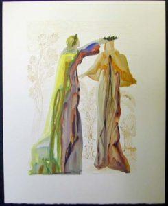 Salvador Dali - Divine Comedy - Virgil's last words
