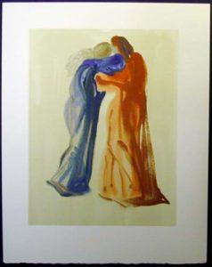 Salvador Dali - Divine Comedy - Dante and Beatrice