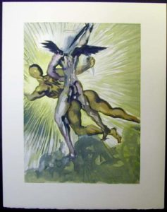 Salvador Dali - Divine Comedy - The guardians of the valley of the Princes