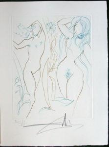 Salvador Dali - Paradise Lost - Adam et Eve (Adam and Eve)