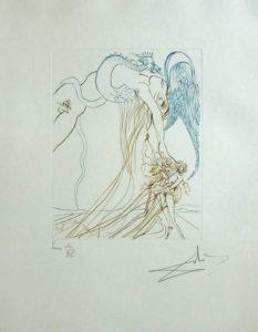 Salvador Dali - Paradise Lost - La Tentation (The Temtation)