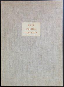 Salvador Dali - Huit Peches Capitaux or Eight Deadly Sins - Case