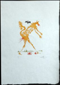 Salvador Dali - Huit Peches Capitaux or Eight Deadly Sins - Pride