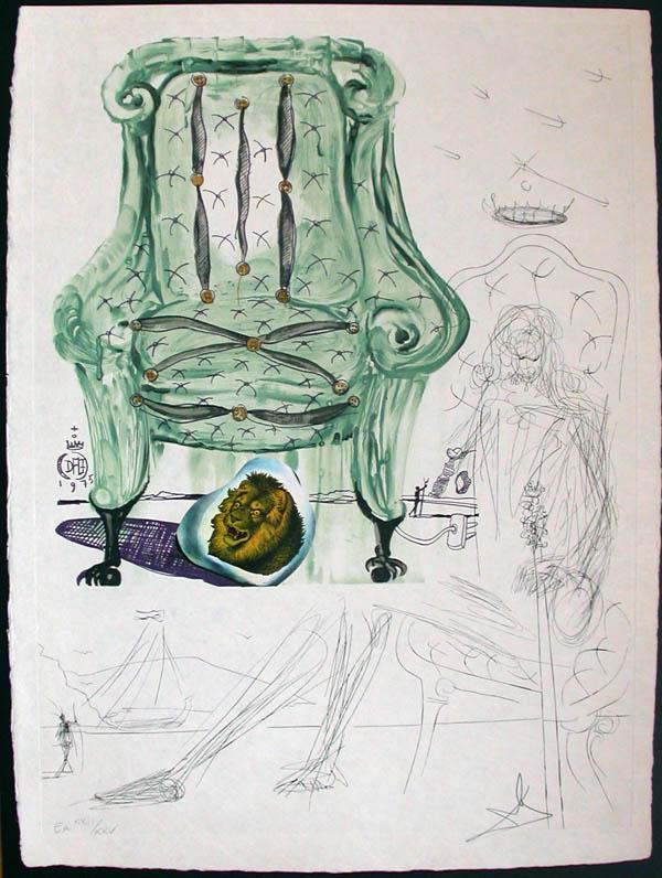 Salvador Dali - Dalinean Prophecy - Intra-Uterine Paradisiac Locomotion