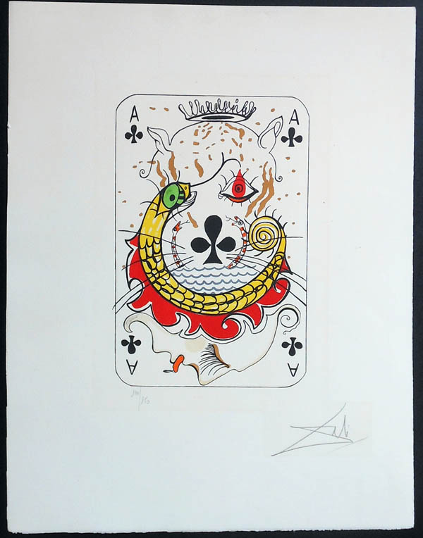 Salvador Dali - Playing Cards - Playing Cards Clubs - Ace of Clubs