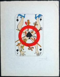 Salvador Dali - Playing Cards - Playing Cards Spades