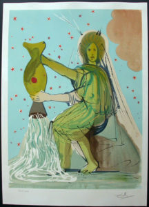 Salvador Dali - Twelve Signs of the Zodiac - Aquarius