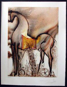 Salvador Dali - Dalinean Horses - Le cheval de Troie