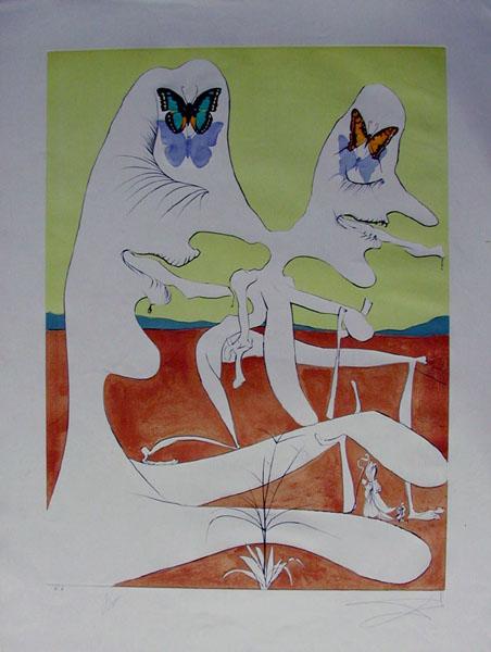Salvador Dali - La Conquete du Cosmos I & II - Butterflies of Antimatter vision