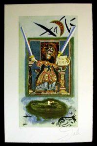 Salvador Dali - Lyle Stuart Tarot Cards - Two of Swords
