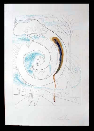 Salvador Dali - La Conquete du Cosmos I & II - The Visceral Circle of theCosmoslithograph