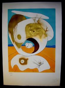 Salvador Dali - La Conquete du Cosmos I & II - Planetary and scatological visionlithograph