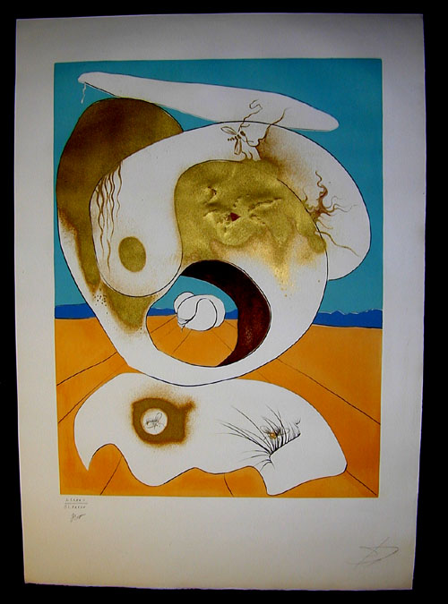 Salvador Dali - La Conquete du Cosmos I & II - Planetary and scatological visionlithograph