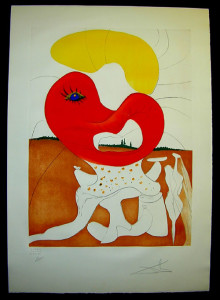 Salvador Dali - La Conquete du Cosmos I & II - The Blood of Yin and Yanglithograph