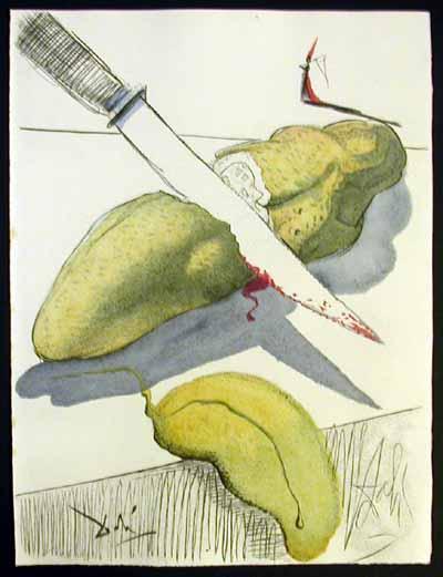 Salvador Dali - Dali Illustre Casanova - Cut Cucumber