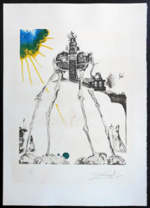 Salvador Dali - Memories of Surrealism Individual Photoliths - Space Elephant