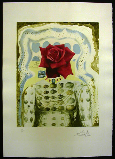 Salvador Dali - Memories of Surrealism Individual Photoliths - Surrealist Flower Girl