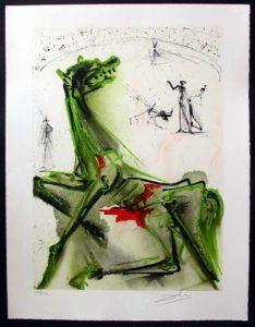 Salvador Dali - Dalinean Horses - La victime de la Fete