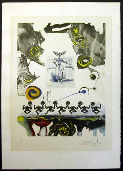 Salvador Dali - Memories of Surrealism Individual Photoliths - Surrealist Gastronomy
