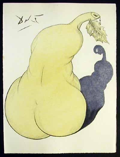 Salvador Dali - Dali Illustre Casanova - Pear and Nude Back