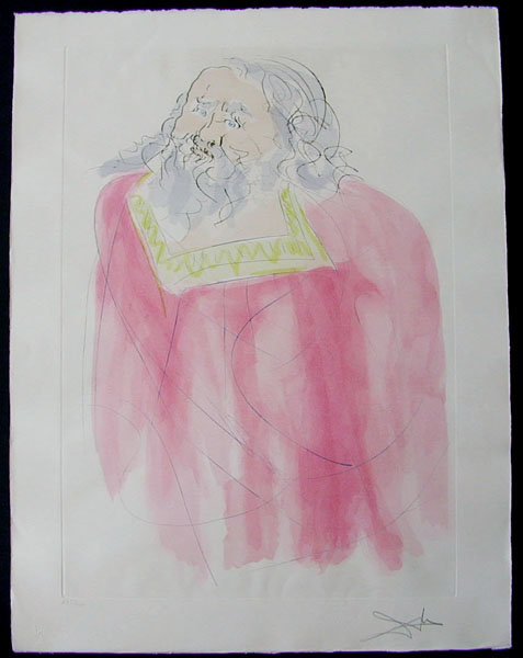 Salvador Dali - Our Historical Heritage - Jeremiah drypoint etching