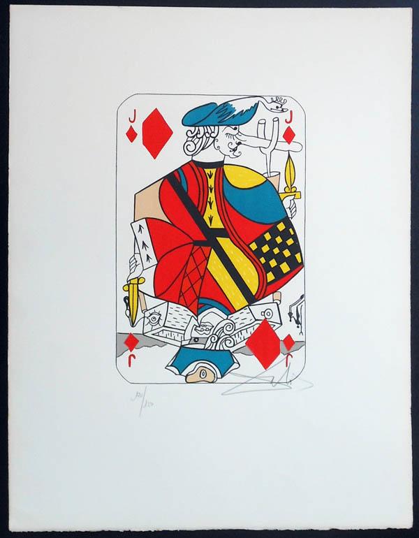 Salvador Dali - Playing Cards - Playing Cards Diamonds - Jack of Diamonds