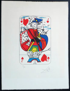 Salvador Dali - Playing Cards - Playing Cards Hearts - Jack of Hearts
