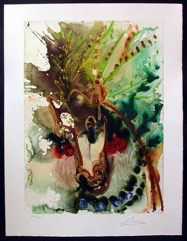 Salvador Dali - Dalinean Horses - Bucephale