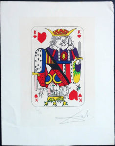 Salvador Dali - Playing Cards - Playing Cards Hearts - King of Hearts