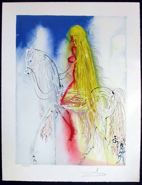 Salvador Dali - Dalinean Horses - Lady Godiva
