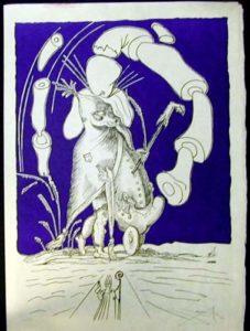 Salvador Dali - Les Songs (Songes) Drolatiques de Pantagruel - P