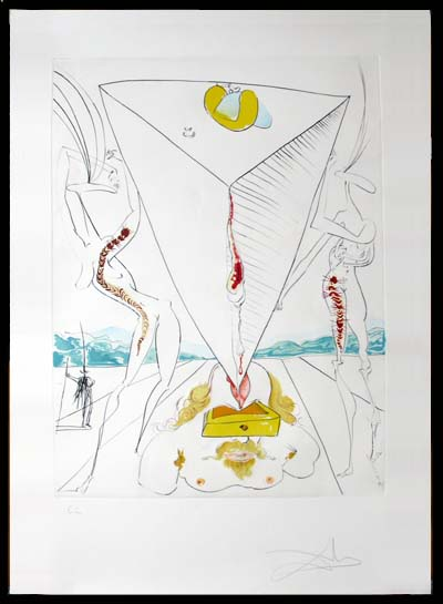 Salvador Dali - La Conquete du Cosmos I & II - Philosopher Crushed by theCosmoslithograph