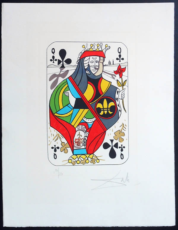 Salvador Dali - Playing Cards - Playing Cards Clubs - Queen of Clubs