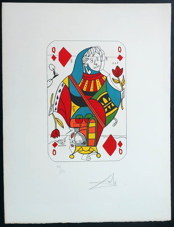 Salvador Dali - Playing Cards - Playing Cards Diamonds - Queen of Diamonds