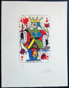 Salvador Dali - Playing Cards - Playing Cards Hearts - Queen of Hearts