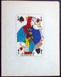 Salvador Dali - Playing Cards - Playing Cards Spades - Queen of Spades