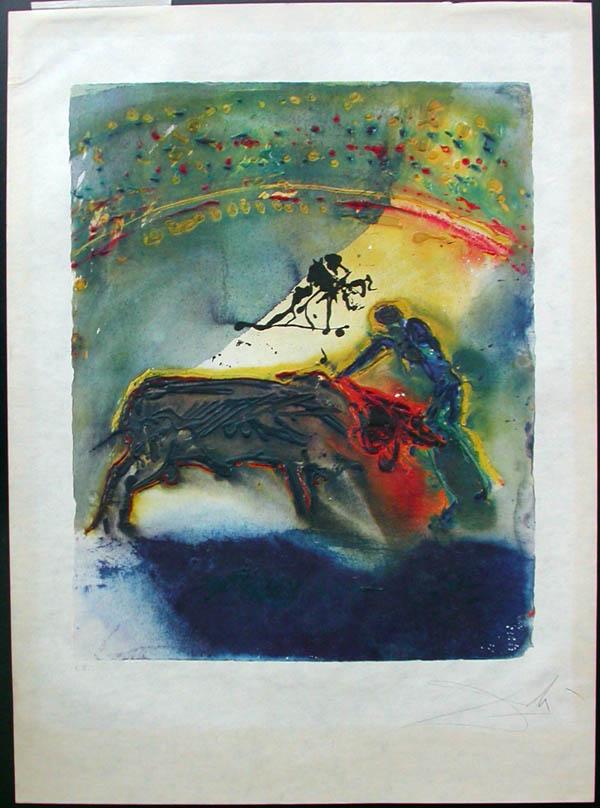 Salvador Dali - Tauromachie, Bull Fight II - I
