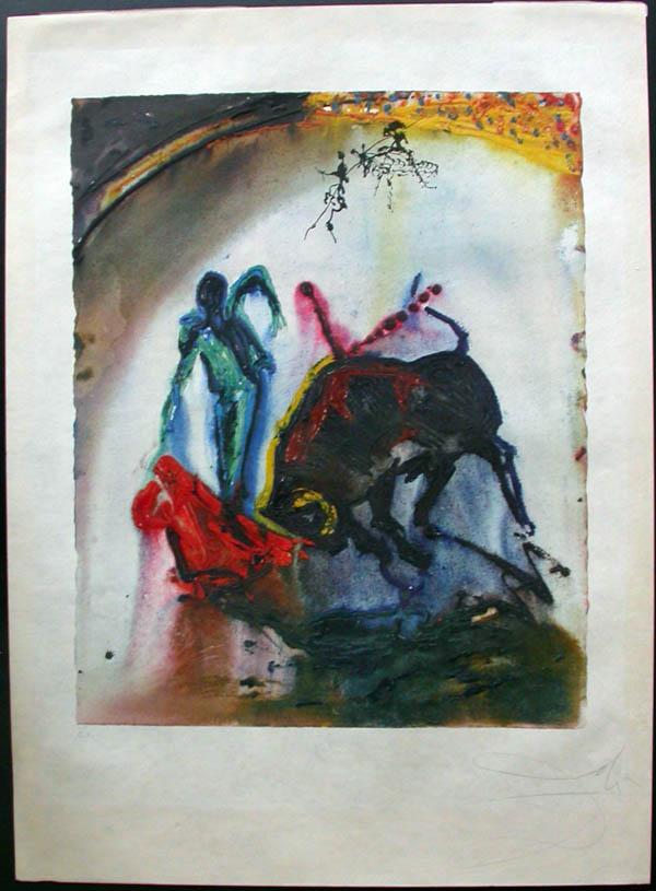 Salvador Dali - Tauromachie, Bull Fight II - Tauromachie5