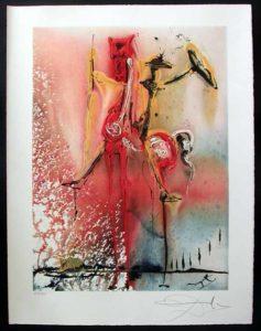 Salvador Dali - Dalinean Horses - Le Chevalier Moyenageux