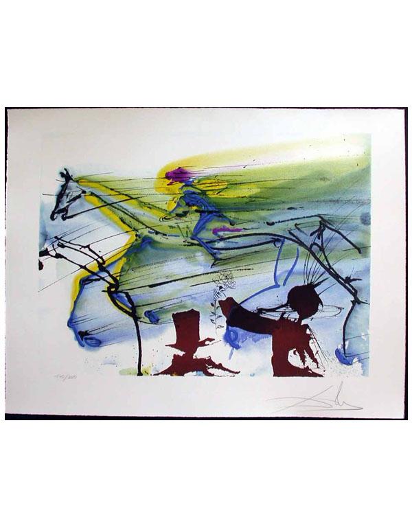 Salvador Dali - Dalinean Horses - Cheval de Course