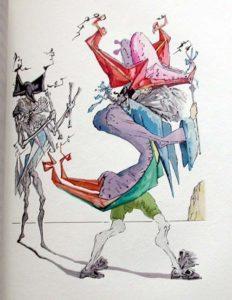 Salvador Dali - Le Tricorne - Etching #8