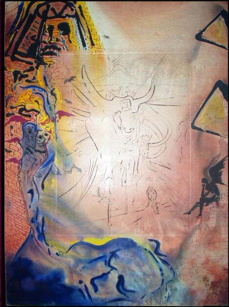 Salvador Dali - Moise et Monotheisme - Dream of Moses Le reve de Moise