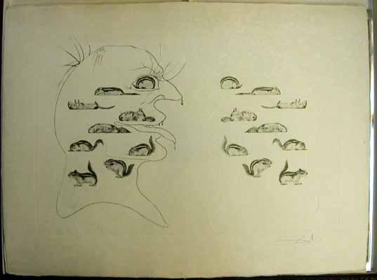 Salvador Dali - Dix Recettes d'Immortalite - L'homme ressuscxite par l'holographie de l'ecureuil